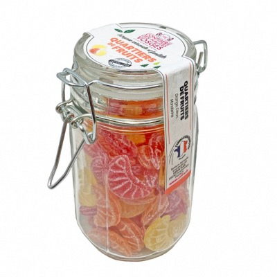Bocal bonbon Quartiers de Fruits 135 g